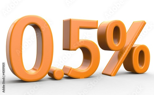 0.5 % 3d Schrift orange