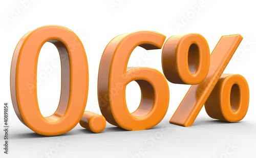 0.6 % 3d Schrift orange