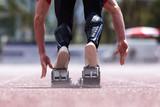 Sprinter beim Start poster