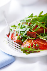 Rocket Salad with fresh and dried Tomatoes