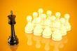 Leadership concept chess