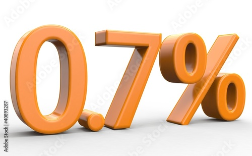0.7 % 3d Schrift orange