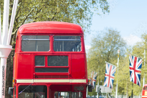 Keuken foto achterwand Londen rode bus London famous red buses