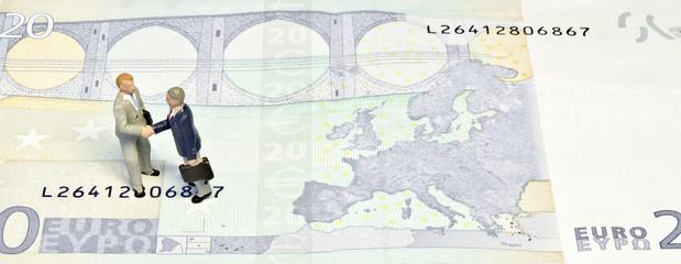Miniature handshake twenty euros