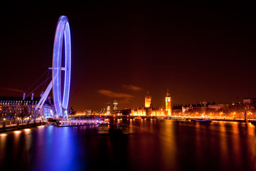 London Eye and Big ben at Night