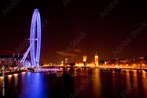 London Eye and Big ben at Night - 40895496