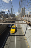 Fototapety brooklyn bridge cab