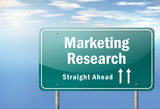 "Highway Signpost ""Marketing Research"""