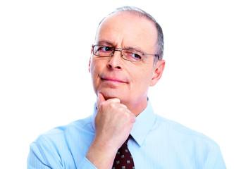 Skeptical businessman.