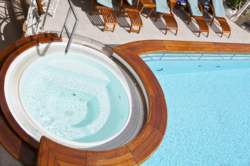 Whirlpool on the deck of a cruise ship
