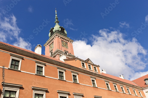 Sights of Poland. Warsaw Royal Castle.