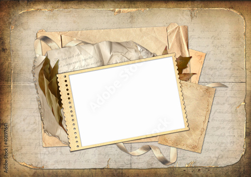 Vintage paper background with frame