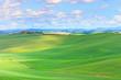 Tuscany, Crete Senesi country landscape, Italy. Hills, Green fie
