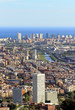 Spectacular panoramic view of the city of Barcelona