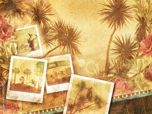 tropical vintage background
