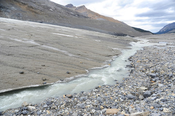 Melting Edge of Athabasca Glacier