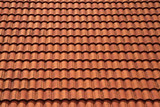 clean roof tiles background texture in regular rows poster
