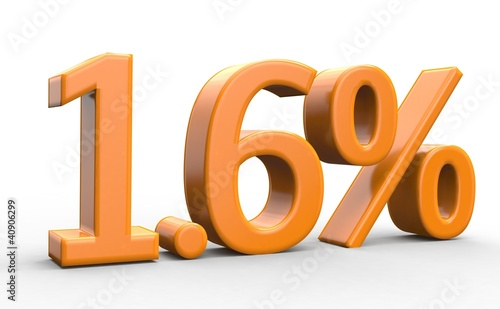 1.6 % 3d Schrift orange