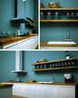 Küchendesign- Küche türkis
