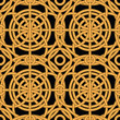 Ethnic gold interlaced - seamless vector pattern
