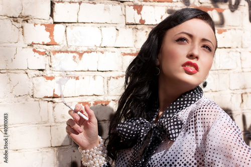 Beautiful smoking girl