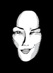 Masques: clin d'oeil