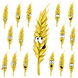 wheat ear cartoon