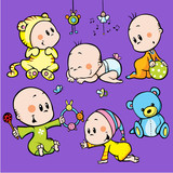 Fototapety cute babies