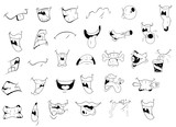 Fototapety Cartoon Mouth Expressions