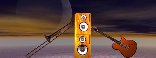 guitar and trombone