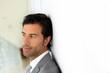 Portrait of businessman in modern building