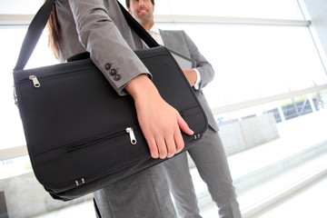 Closeup on business briefcase