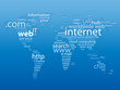 """WEB"" tag cloud (world map internet www http business)"