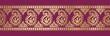 paisley floral border ,saree, textile design, royal India