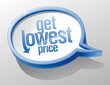 Get lowest price shiny speech bubble