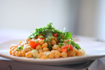 Chat masala ,Healthy Indian dish with Chik peas