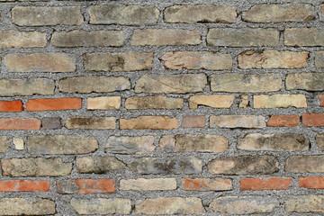muro in mattoni di argilla