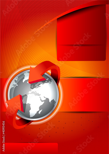 Vector background with continents for brochures