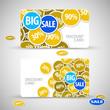 Set of big sale cards
