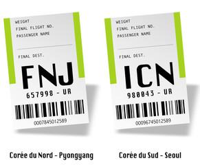 Airport tag bags - Corée (Nord et sud)