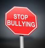 Stop bullying sign. poster