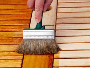 Holztischpflege