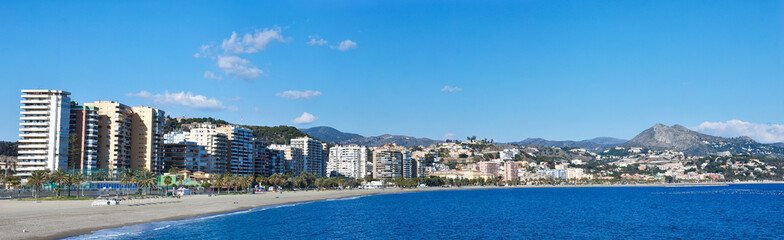 Malaga Beach and City - Spain