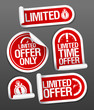 Limited offer sale stickers set