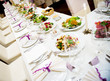 Luxury banquet table setting in restaurant