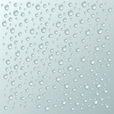 Fototapety vector background with a lot of water drops