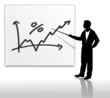 Positiver Chart mit Mann