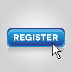 Blue register button with mouse cursor