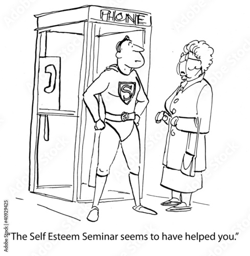 Tuinposter Comics Self-Esteem Seminar was Helpful