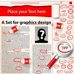 graphics design set